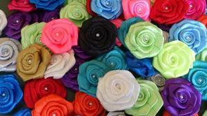 rosas rococo flores de cinta lazos cintillos apliques