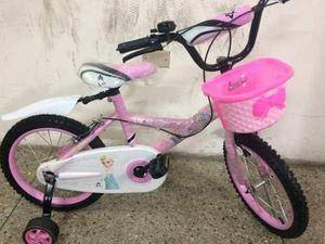 Bicicleta niños y niñas rin 16 de frozen y super