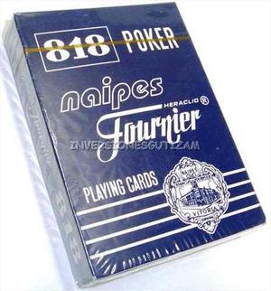 Cartas De Poker Juego De Mesa Naipes Barajas Faurnier Carton En