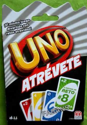 Cartas Uno Atrevete Nuevo Mattel Original Juego Juguete En Cabudare