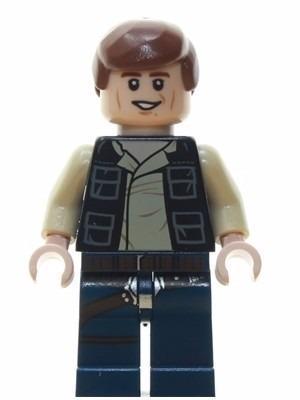 Star wars muñeco han solo 8cm carta accesorios comp. lego