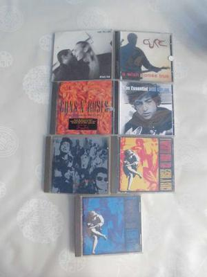 The cure,pearl jam,guns and roses,bob dylan,duran duran,cds
