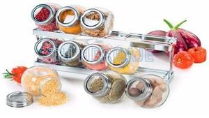 Condimentero con base set 10 potes cromado accesorio cocinas