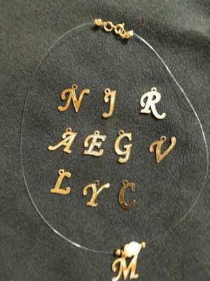 4c382e9095a7 Collar fantasmas con tu inicial en gold filled y perlas en Guarenas ...