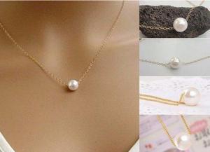 Collar tipo perla para layer capas amor corazon fashion amor