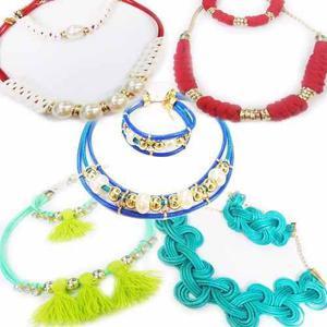 19ecd237163c Juegos de collares con pulseras o zarcillos bisuteria mayor en ...