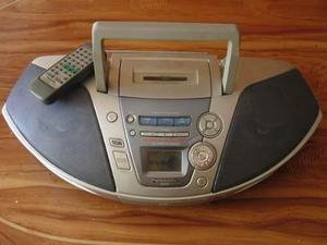 Radio reproductor portatil cd y casette