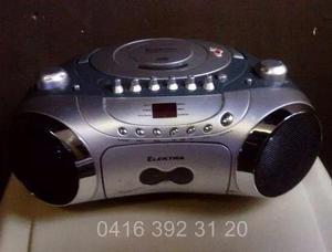 Reproductor cd mp3, fm, cassette & grabador / marca elektra