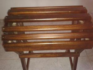 Mesa de madera para silla de caballo