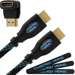 Cable hdmi twisted veins full hd 1080p 4k 3d de 15 metros