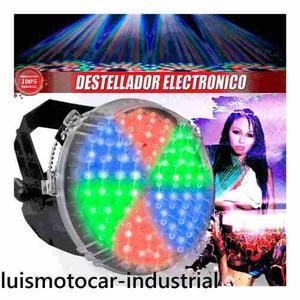 Luz led strobo iluminacion eventos rgb multicolor graduable