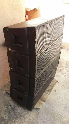 Sistema copia das aero 28ca line array 8 cajas 600w rms qsc
