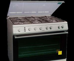 Cocina 6 hornillas cromada clasf for Cocina acero inoxidable