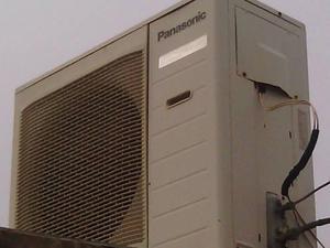 Aire acondicionado splik panasonic con unidad mala 24mil btu