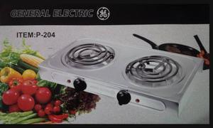 Cocina eléctrica de 2 hornillas general electric