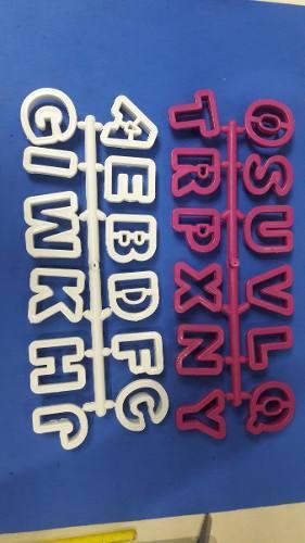 Cortador letras abecedario masa flexible fondant reposteria