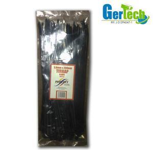 Amarra cable tirrap 3,6x200mm negro 100 pzas