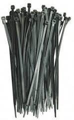 Cable ties amarre plastico t-wraps negro 290x6.3mm