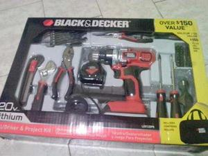 Kit de taladro inalambrico black and decker 69 piezas