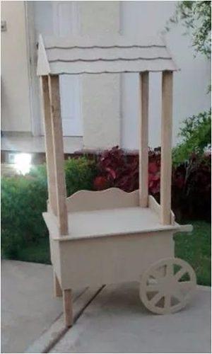 Carreta de dulces decoración mobiliario candy bar mdf crudo