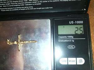 Cristo de oro 18kl precio del gramo