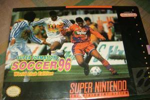 Juego de super nintendo soccer96 snes nuevo