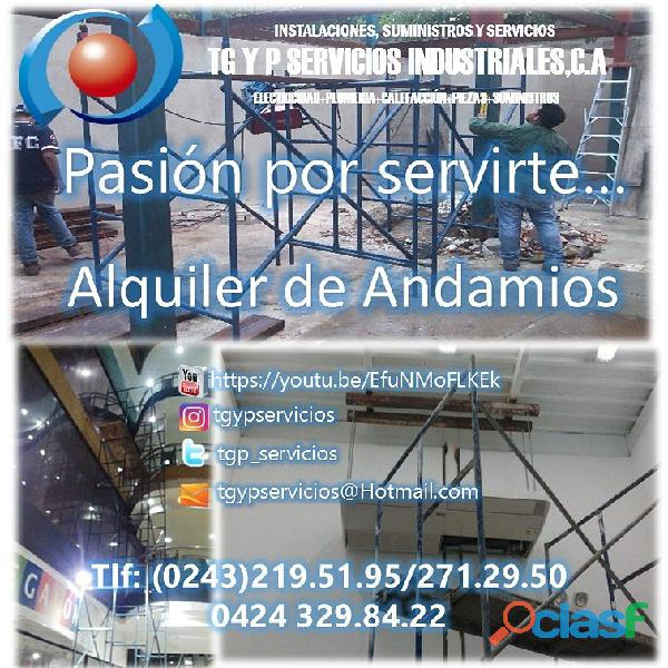 Alquiler de andamios maracay 04243498886