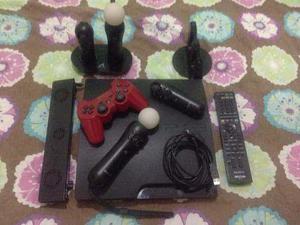 Playstation 3 move 320gb, accesorios y juegos.