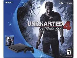Playstation 4 de 500 gb + uncharted 4 + 2 juegos
