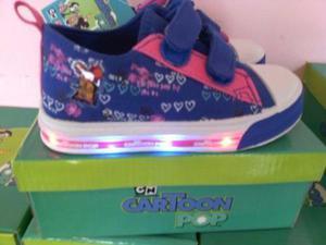 Zapatos luces niña cartoon network 22 al 24