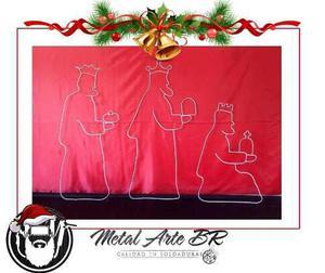 Reyes magos, figuras navideñas en hierro