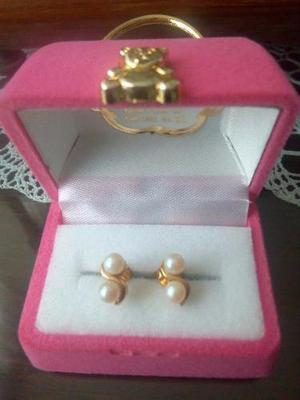 71253b840abe Bisuteria zarcillos perlas oro   REBAJAS Mayo