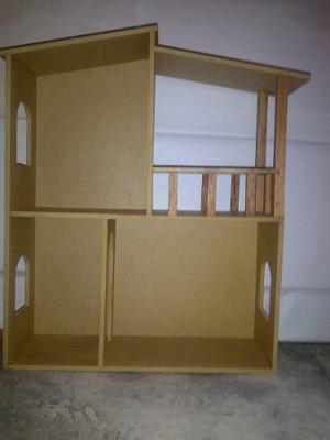 Casa para muñecas barbie en mdf crudo