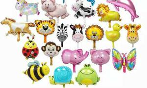 Globos metalizados animales safari, leon, zebra, mono, vaca