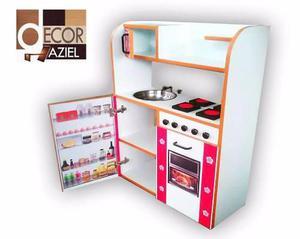 Casa para muñecas cocina de niñas cocinita mdf remate