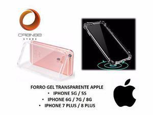 Forro gel transparente iphone 5 5s 7g 7 plus 8g 8 plus