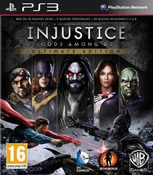 Injustice ultimate edition ps3 juegos digitales