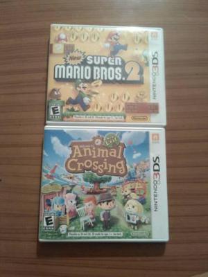 Juegos Originales Nintendo 3ds Supermario Y Animal Crossing En