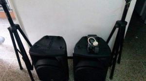 Cornetas triaxiales, maquina de humo