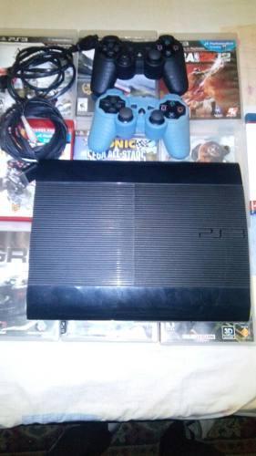 Playstation 3 Super Slim 500gb Juegos 20 Digital 8 Fisicos.