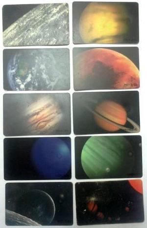 Colección completa tarjetas cantv usadas 1995 sistema solar