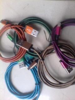 76b892a50 Cable usb v8 de nylon carga rapida micro usb