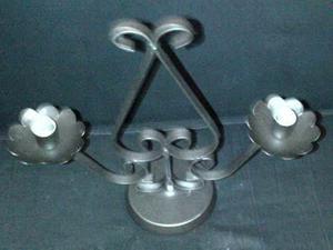 Candelabro hierro forjado para 2 velas dia de la madre