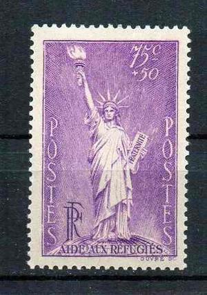 Estampilla francia 1936. nueva