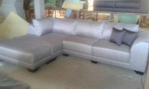 Juego de sala, mueble sofa cama, modular, semicuero alaya
