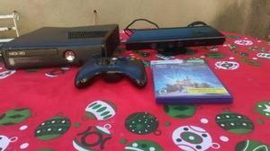 Xbox 360 slim con kinect + juego original + control original