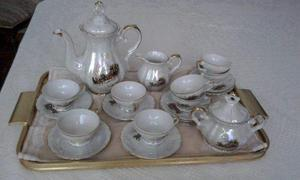Juego de 8 tazas de café completo en porcelana italiana