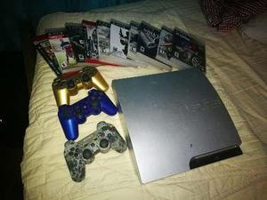 Playstation 3 + 9 juegos + 3 controles lea descripcion