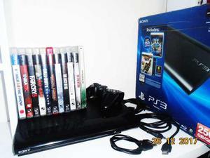 SONY PS3 SLIM 250GB INCLUYE 11 JUEGOS CABLE HDMI Y PODER segunda mano  Venezuela
