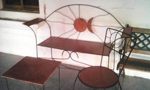 Juego muebles en hierro forjado